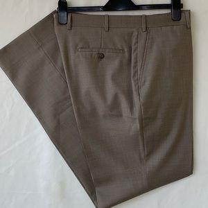 Peter Millar Tan Loro Piana Super 140's Wool Pants